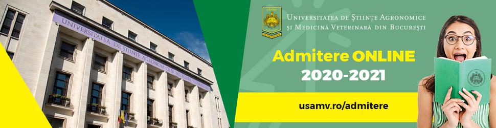 Admitere 2020 - 2021 la Universitatea de Stiinte Agronomice si Medicina Veterinara din Bucuresti