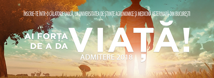 Brosura Admitere 2018 la Universitatea de Stiinte Agronomice si Medicina Veterinara din Bucuresti