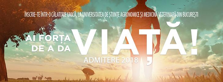 Brosura Admitere 2018 la Universitatea de Stiinte Agronomice si Medicina Veterinara din Bucuresti